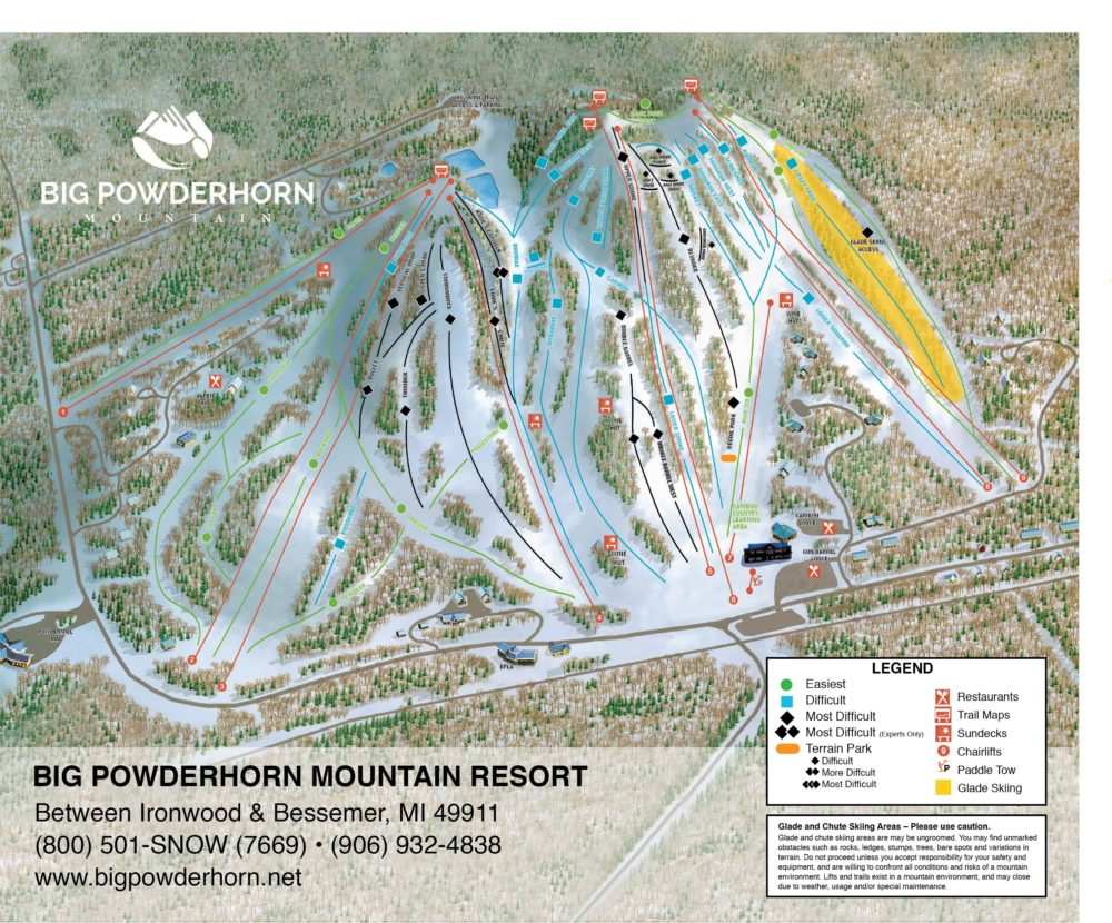 conditions & trail map - big powderhorn mountain resort